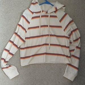 NWOT Striped cropped hoodie